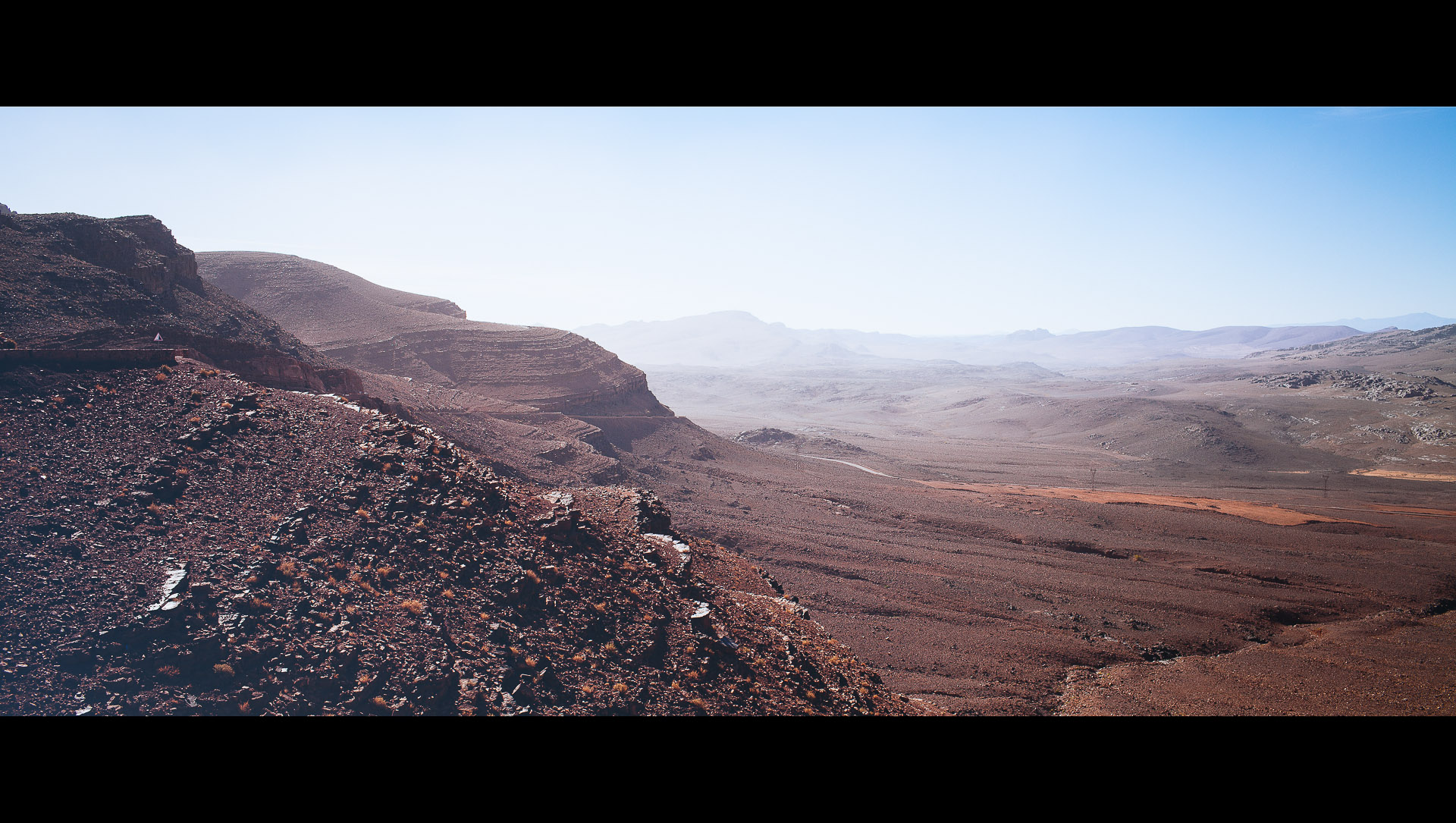 The view of the lower Atlas mountains in Morocco